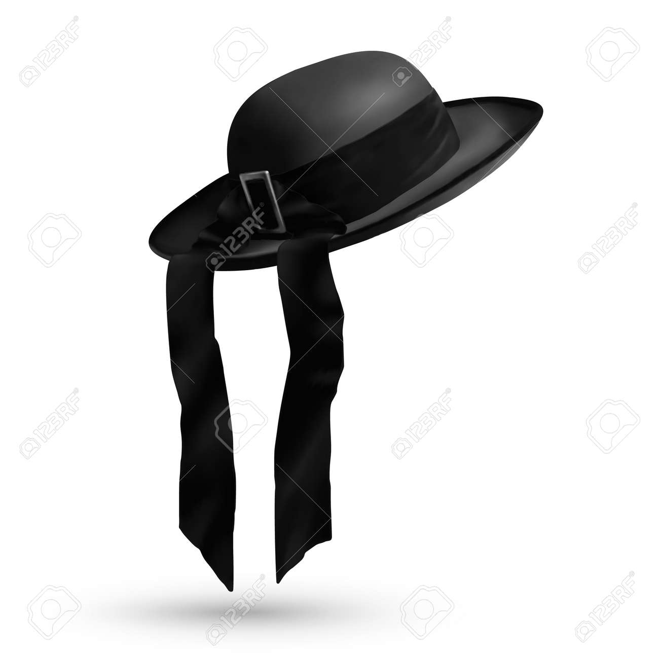 ea764af6 Vector breton traditional mens hat with ribbon isolated on white background Stock  Vector - 67988522