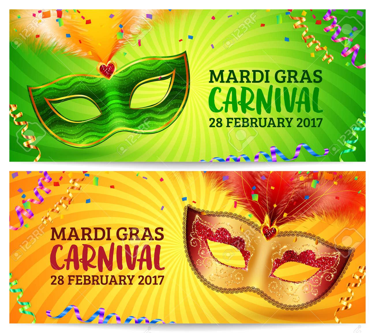 green and orange carnival masks mardi gras invitation flyers