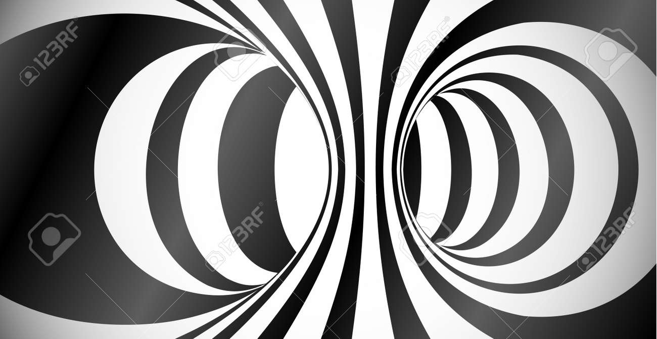 Vector circles surface optical illusion abstract background - 79002317