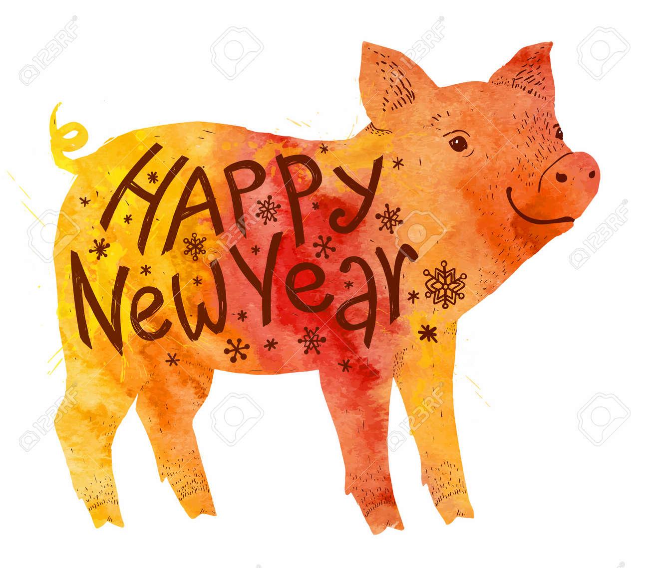 Happy New Year Orange 40