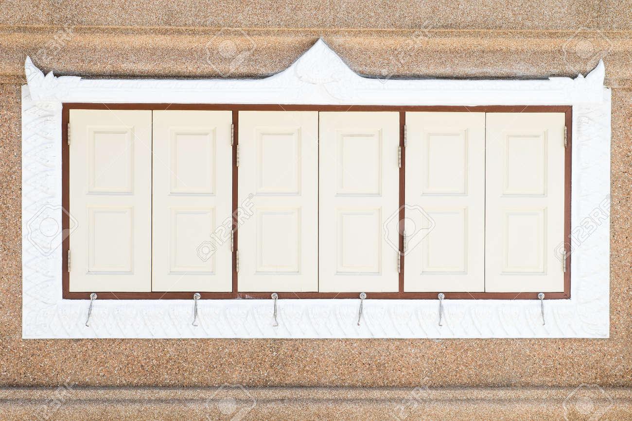 rectangular shape panes windows with decorative border beautiful white pattern stock photo 73493160