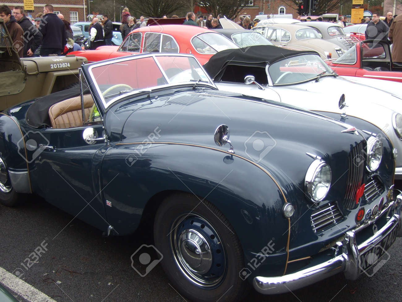 Old Vintage & Classic Cars At A Show In Romsey, England On The ...