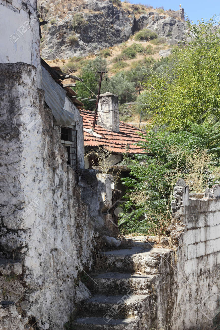 Very old housing at Fethiye in Turkey Stock Photo - 21765652