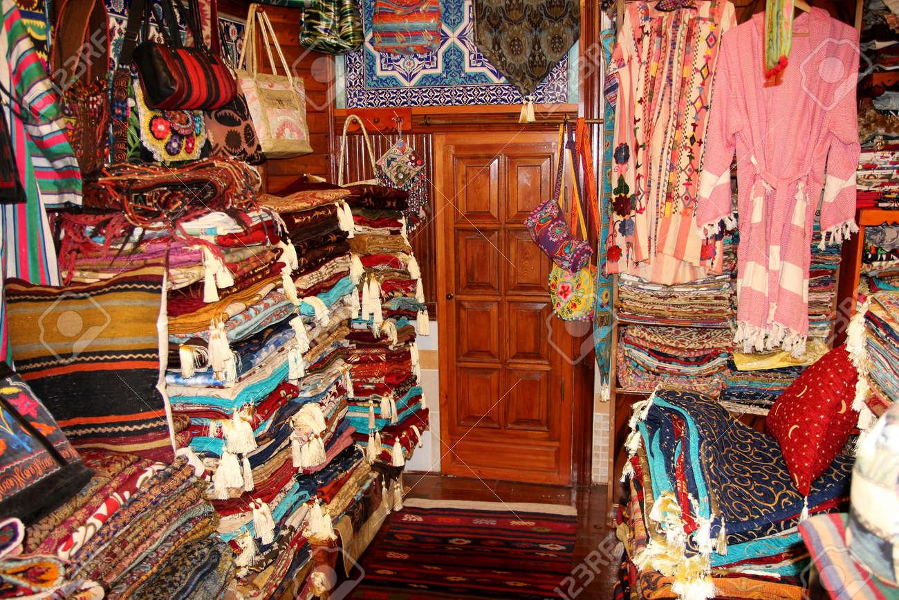FETHIYE TURKEY 31ST MAY 2017A Traditional Turkish Carpet Shop In Fethiye