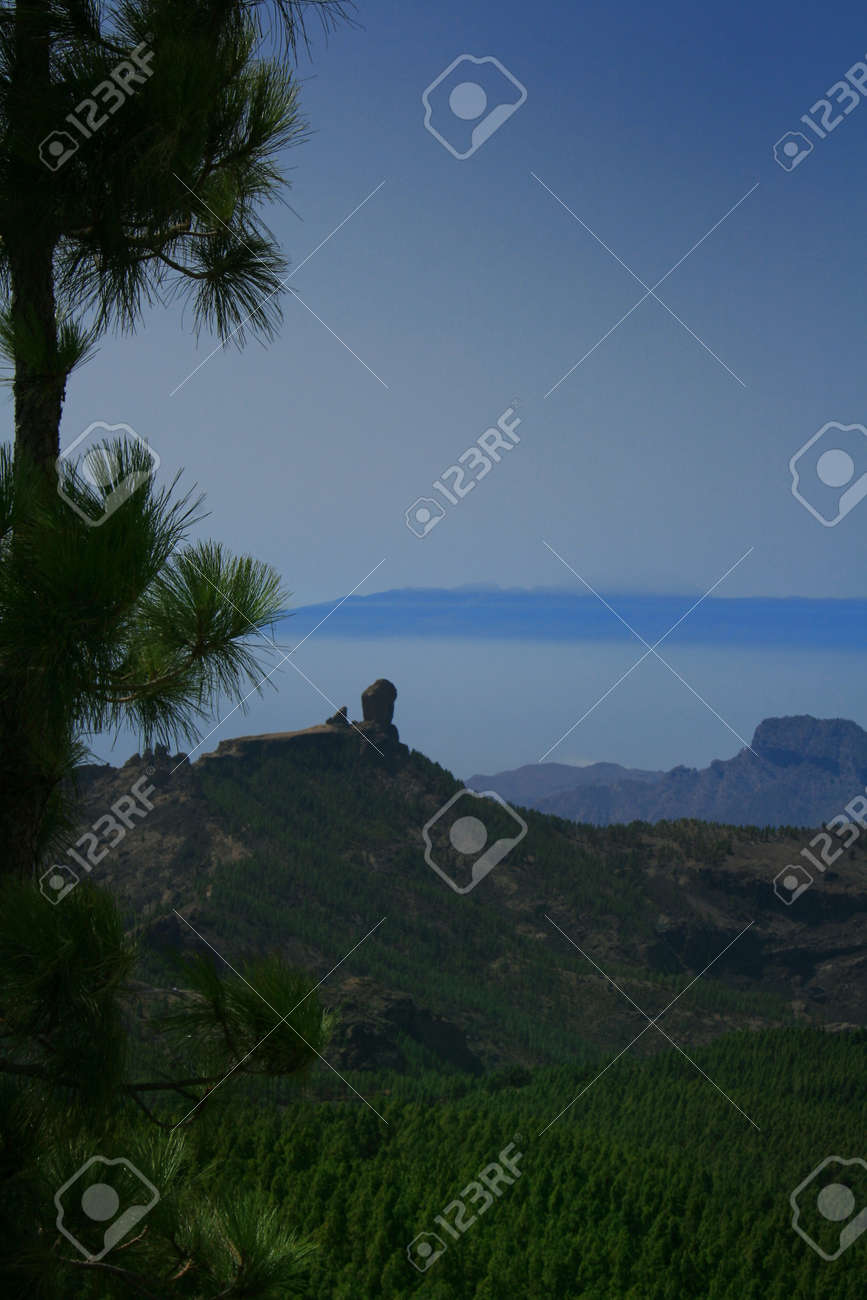 Tenerife island in the back seen from Gran Canaria Stock Photo - 43474580