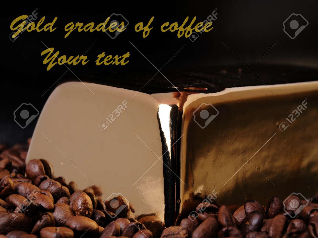 Gold grades of coffee Stock Photo - 12578659