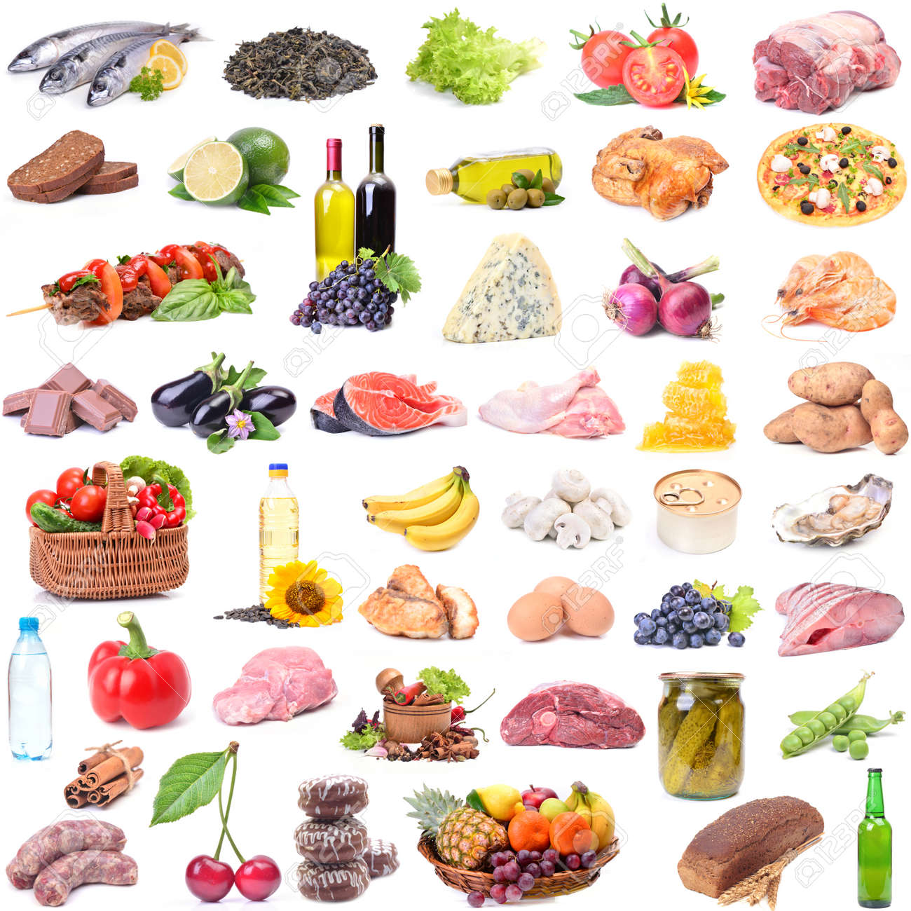Catalog Of The Most Various Food Stock Photo, Picture And Royalty Free Image. Image 47555531.