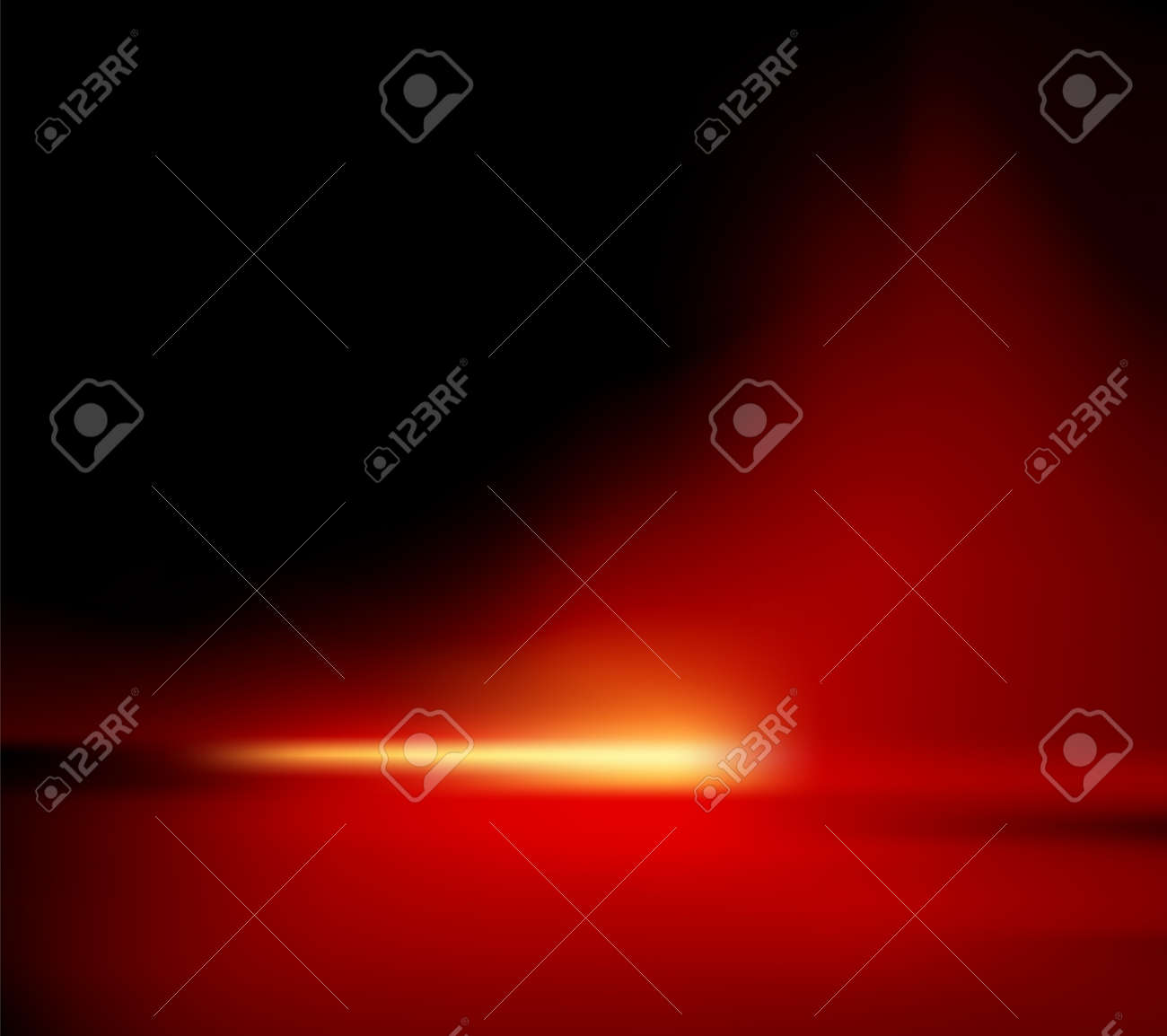 Abstract background - red horizon with glowing sunlight - also suitable for Christmas designs - 10468483