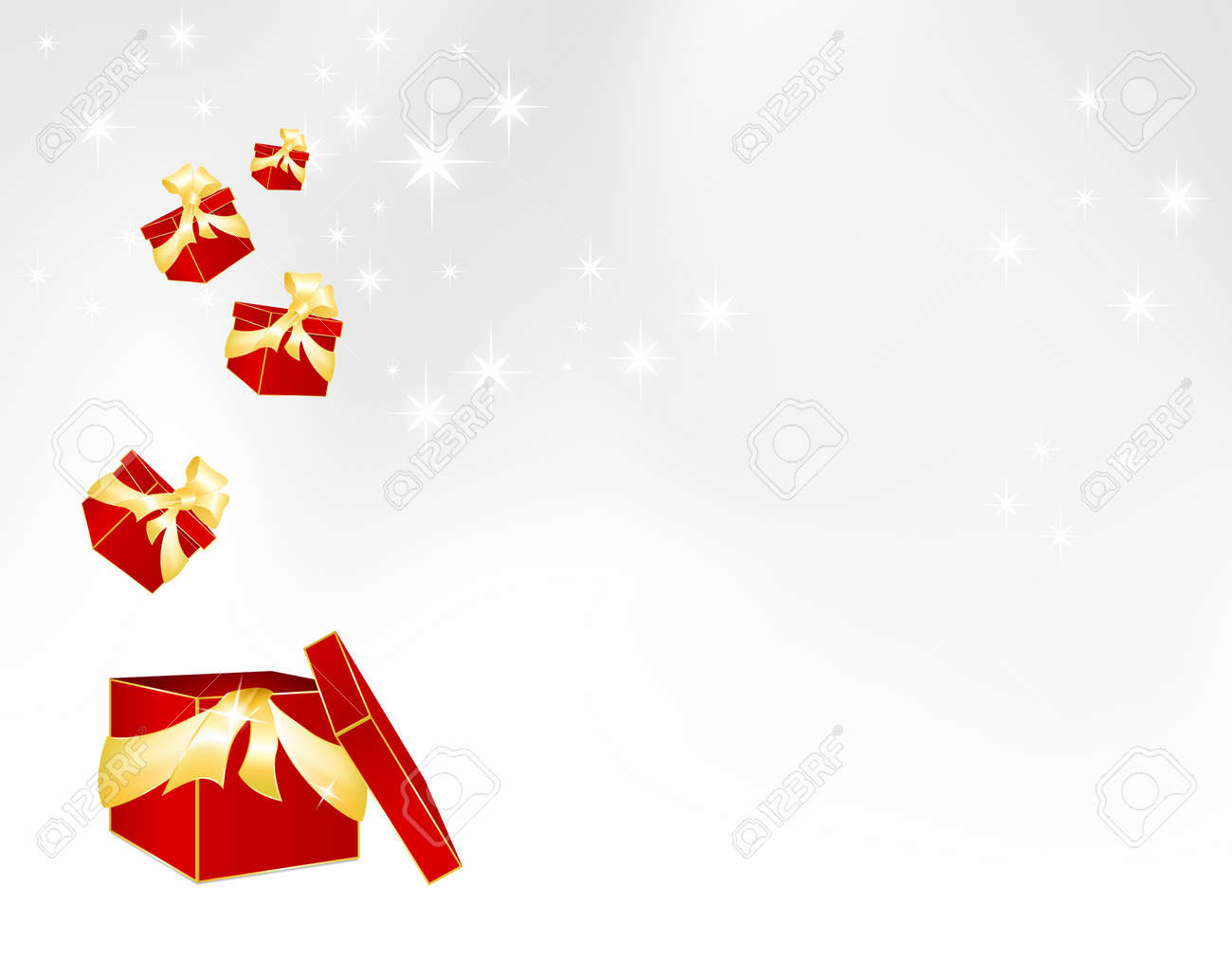 red gift boxes christmas and birthday template gray to red gift boxes christmas and birthday template gray to white background gradient stock