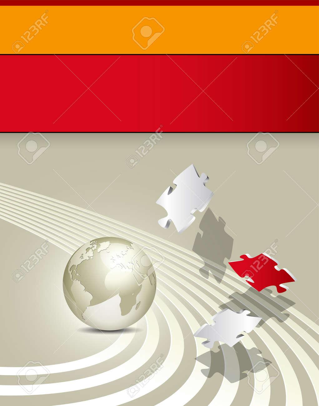 Business brochure - corporate background design - advertising template Stock Vector - 12494019
