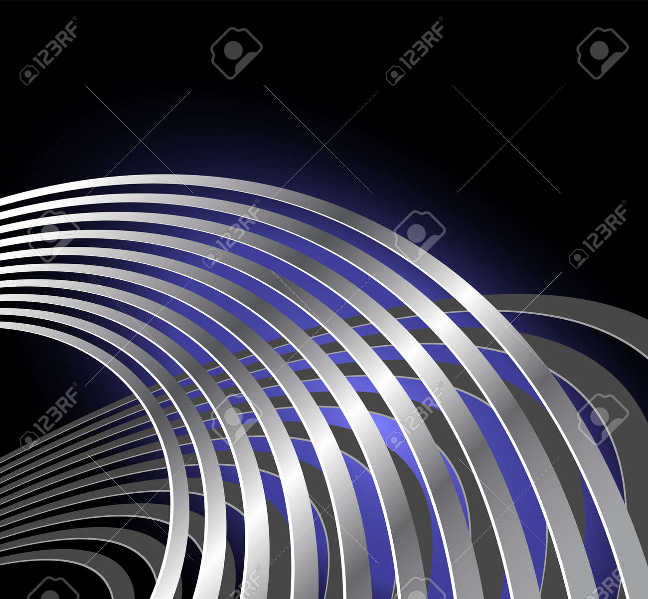 Abstract radio wave background with curved lines - musical vibration - sound waves Stock Vector - 15108804