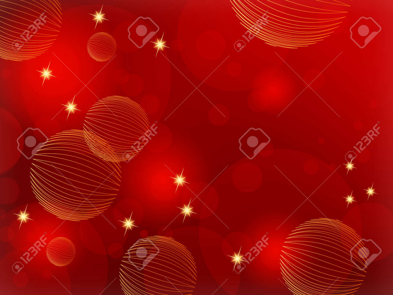 Red Christmas background abstract - 15577809
