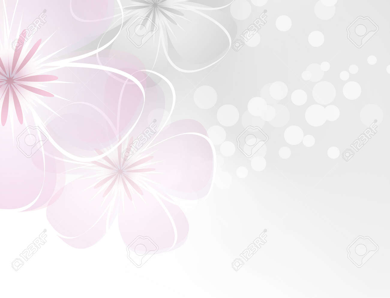 Pink White Flower Design Against Grey Background Royalty Free
