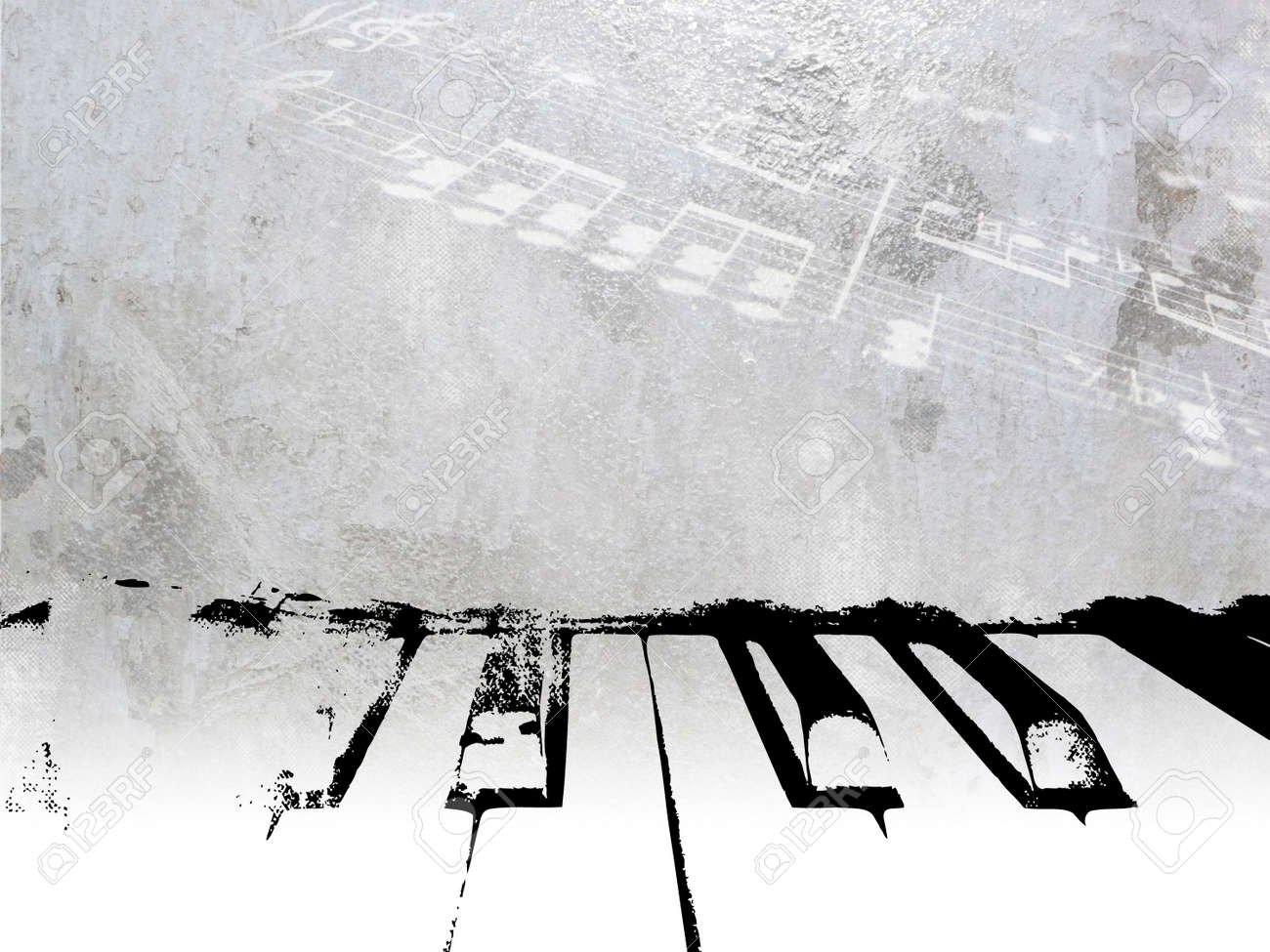 Música De Fondo Vintage - Diseño Del Piano Del Grunge Con Ligeras ...