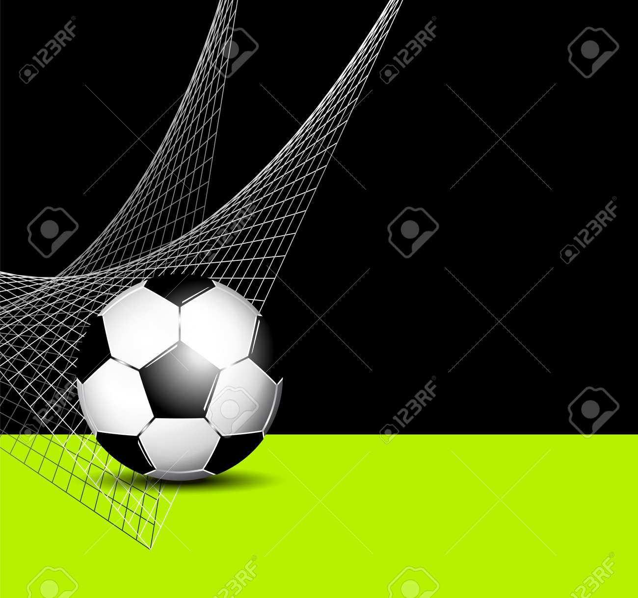 Soccer Ball With Net Football Flyer Template Royalty Free Cliparts