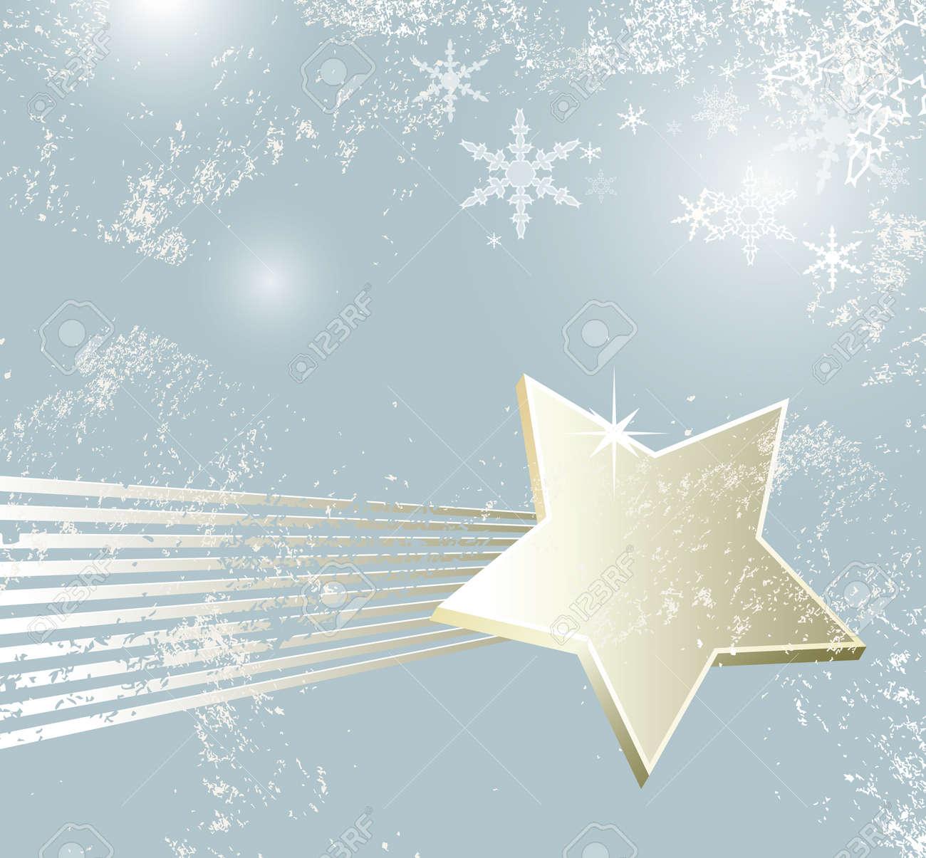Stella Cadente Di Natale.Sfondo Di Natale Stella Cadente Di Design Inverno Retro