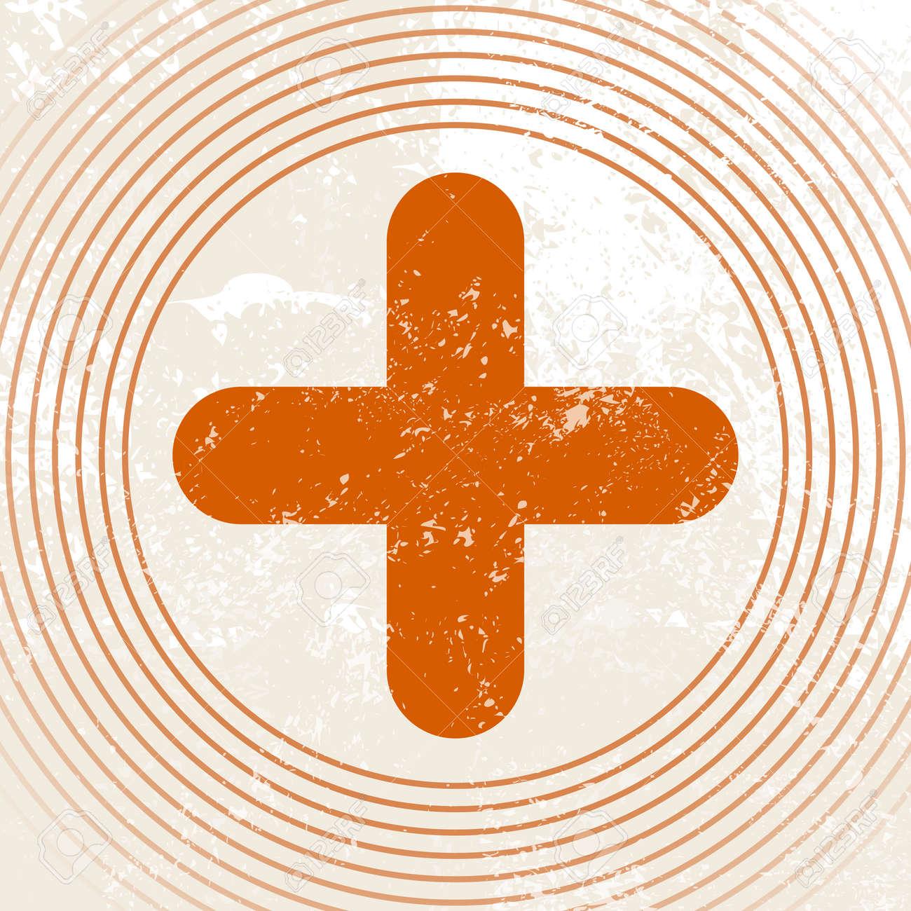 Medical Symbol - Rotes Kreuz - Erste-Hilfe-Symbol - Retro ... | {Rotes kreuz symbol 25}
