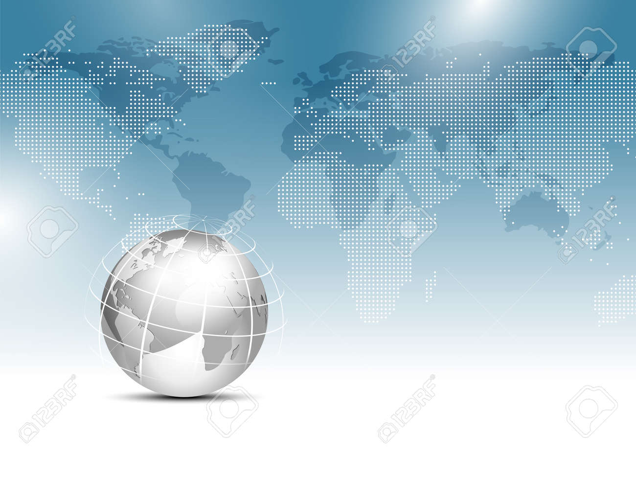 Global world map background blue with silver gray globe worldwide global world map background blue with silver gray globe worldwide business template stock vector gumiabroncs Image collections