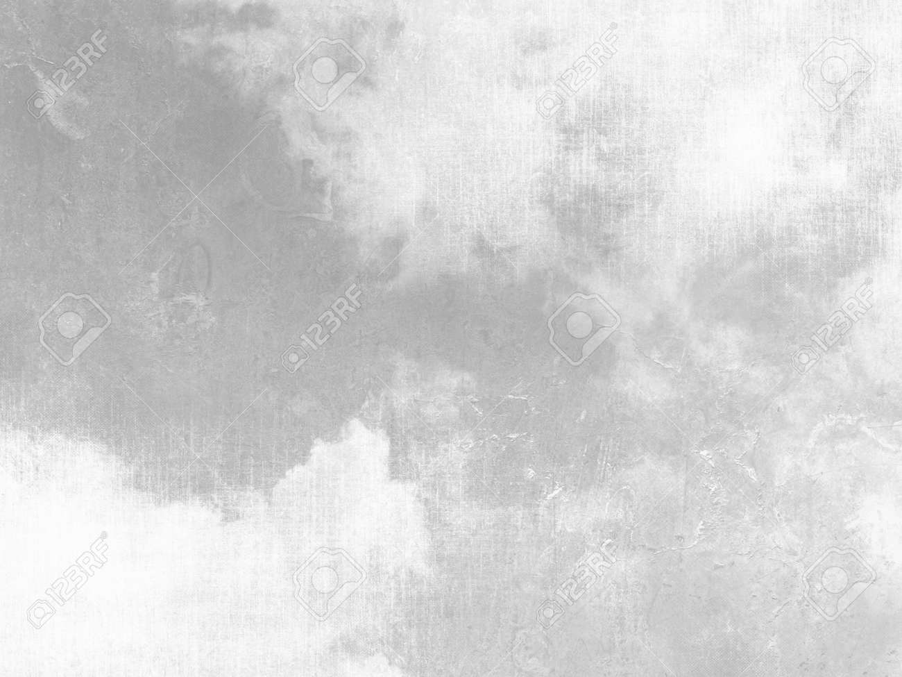 Gray sky background with white clouds and soft vintage texture - 53541063