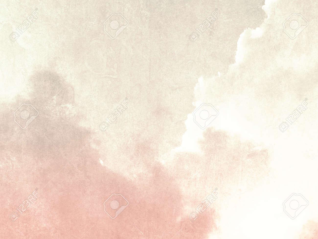 色あせたビンテージ スタイルでピンクの柔らかい空背景ベージュ