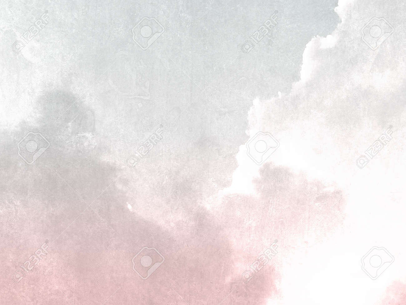 Gray pink sky background vintage in soft watercolor - 53540913