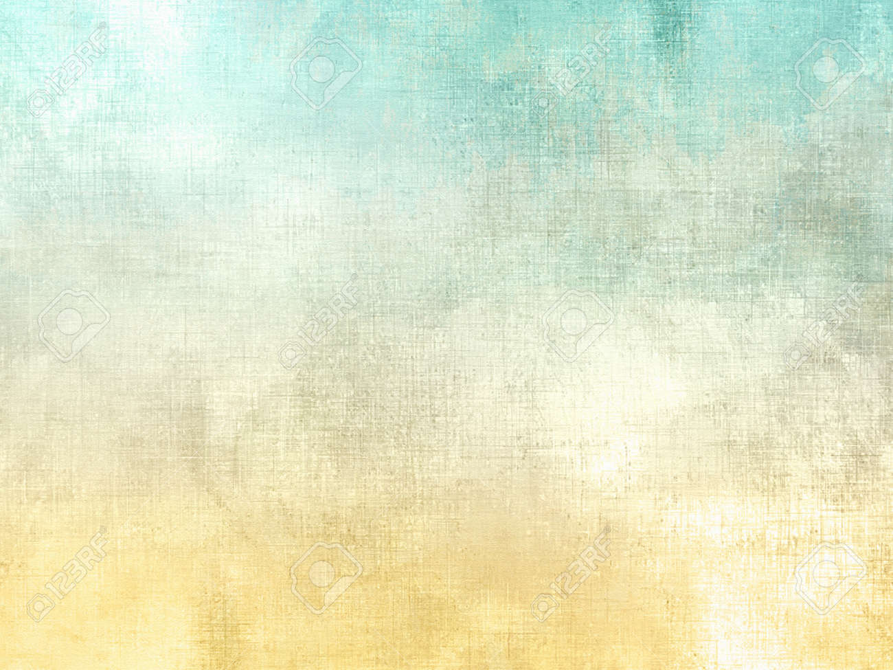 Watercolor texture in soft retro style - abstract nature spring background with yellow green gradient - 53540883