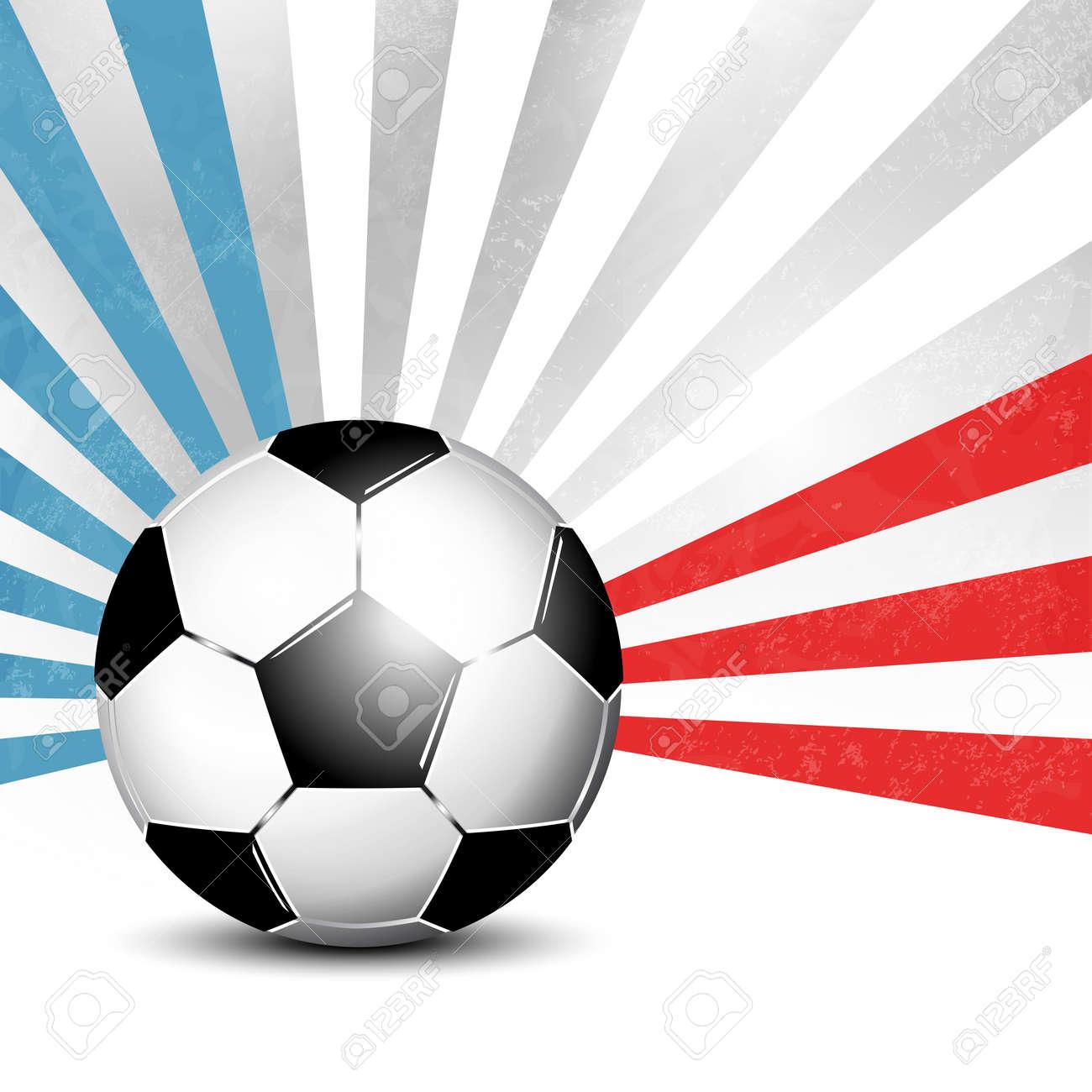 Fußball Hintergrund Mit Strahlen In Abstrakten Französisch Flagge ...