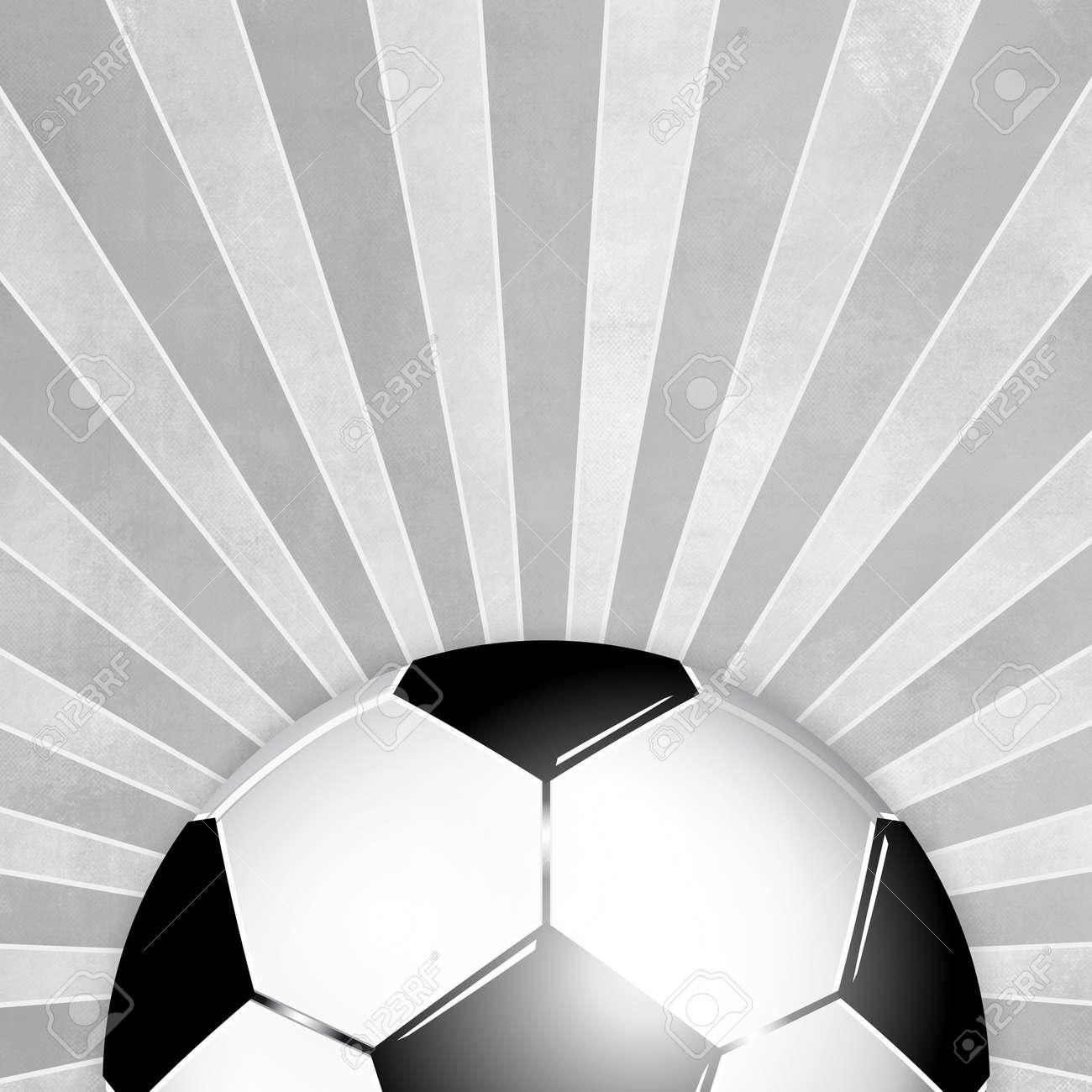 Balón de fútbol en blanco y negro de fondo con los rayos grises Foto de  archivo ff8f1ceaa0e7d
