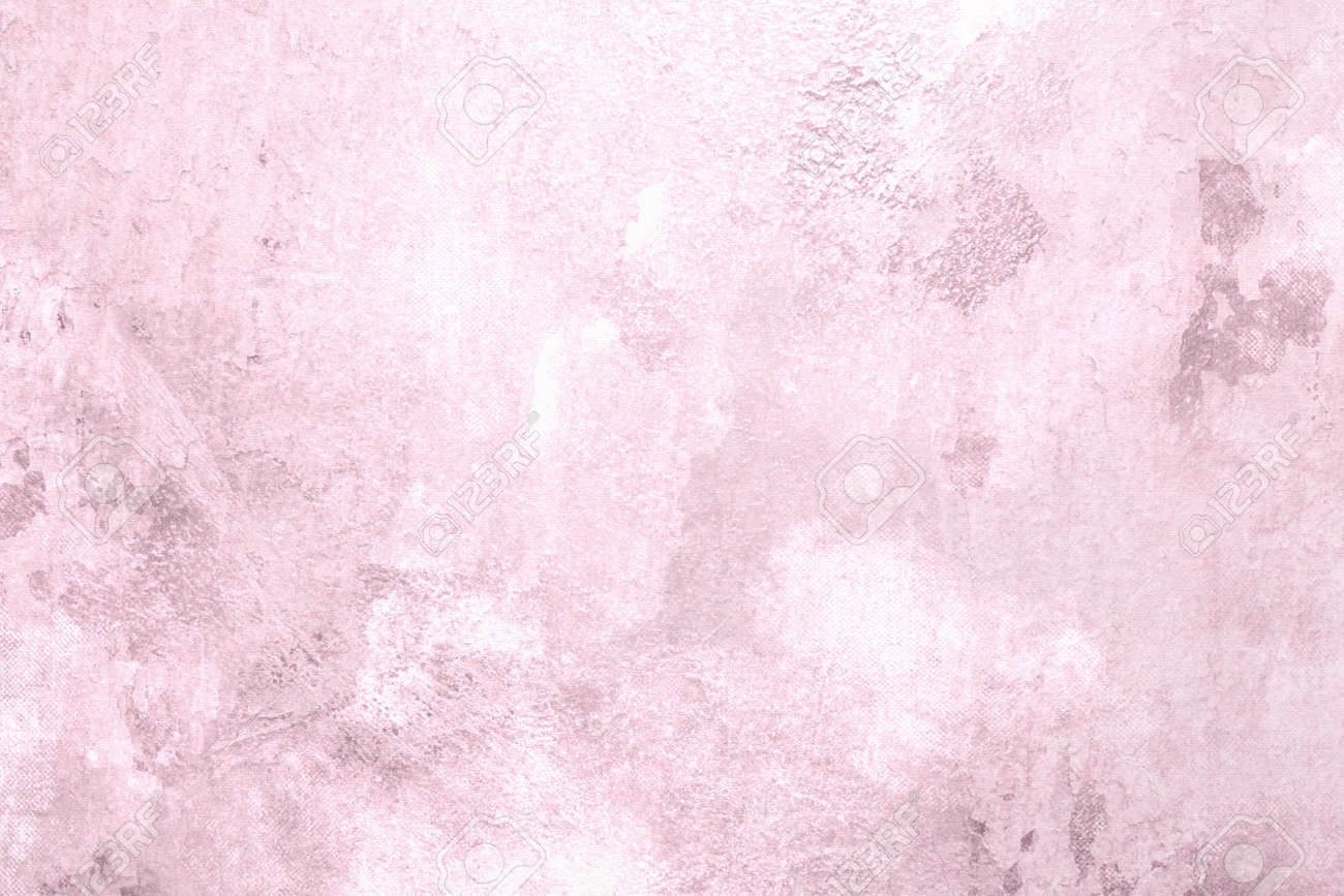 Soft Pink Background With Abstract Vintage Texture Stock Photo