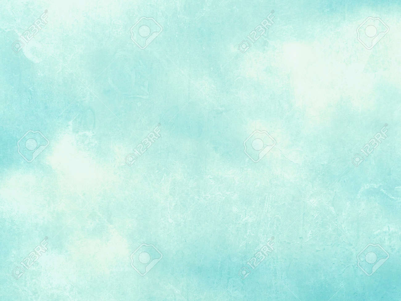 Blue Green Watercolor Background Abstract Pastel Sky Texture