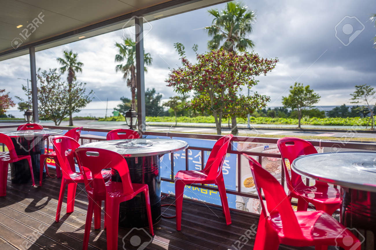 Restaurant Outdoor Terrace In Jeju Island Stock Photo Picture And Royalty Free Image Image 68256343