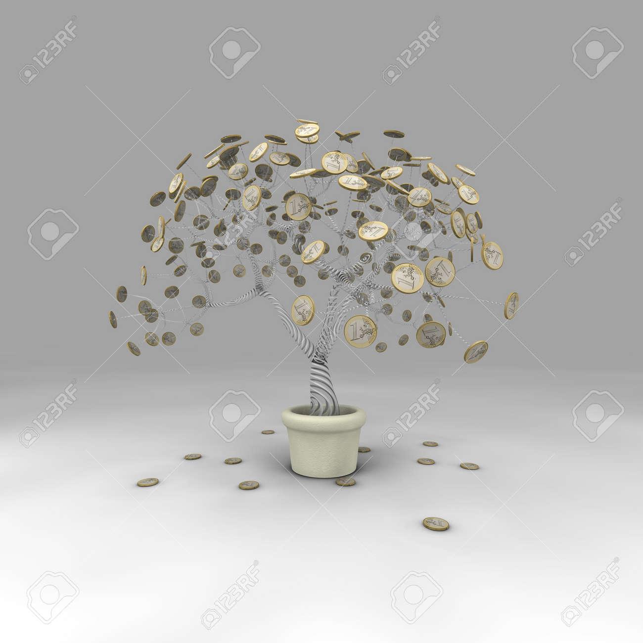 Ein Baum Der Seine Munze Verliert Blatter Im Herbst Lizenzfreie