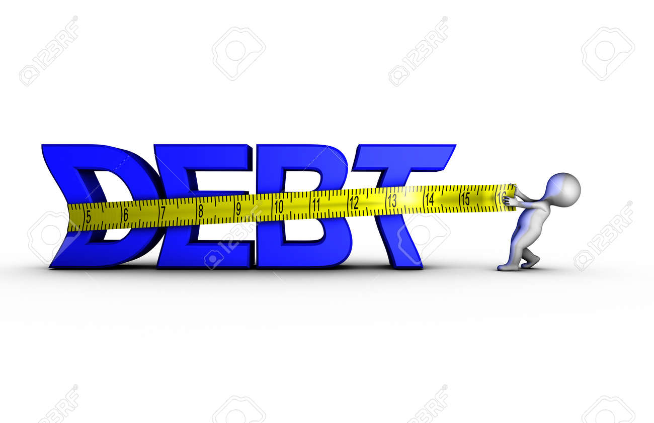 Reducing Debt Stock Photo, Picture And Royalty Free Image. Image ...