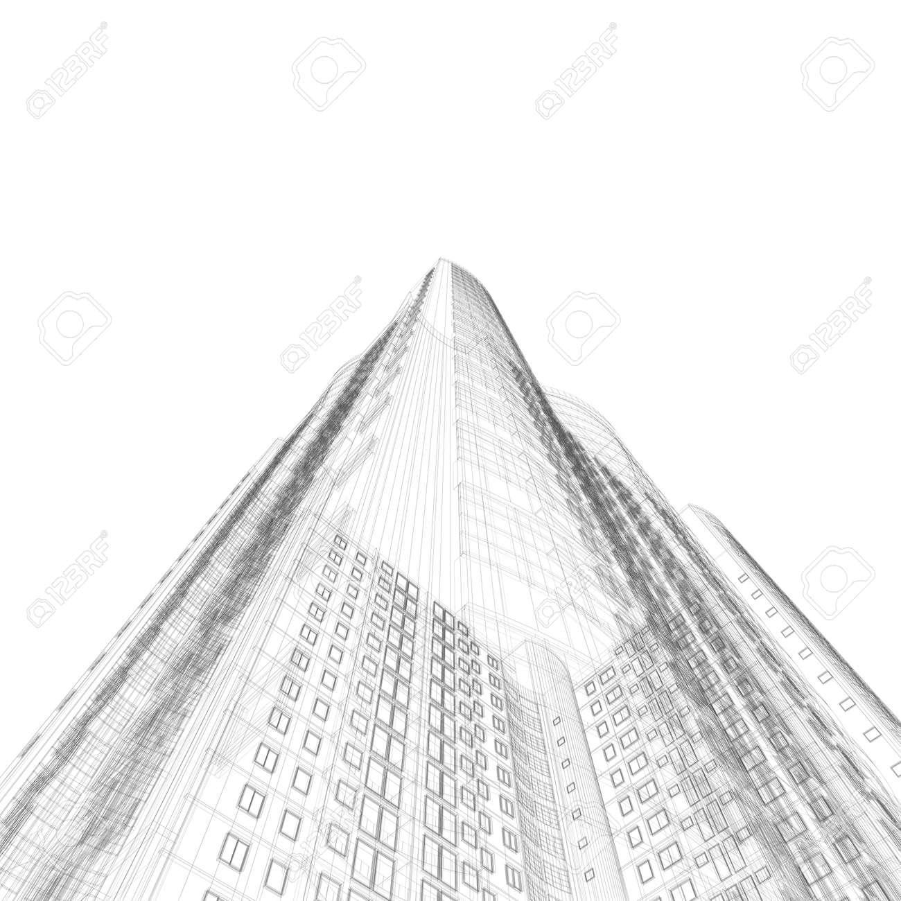 Architecture blueprint of construction skyscraper on white architecture blueprint of construction skyscraper on white background stock photo 5621778 malvernweather Images