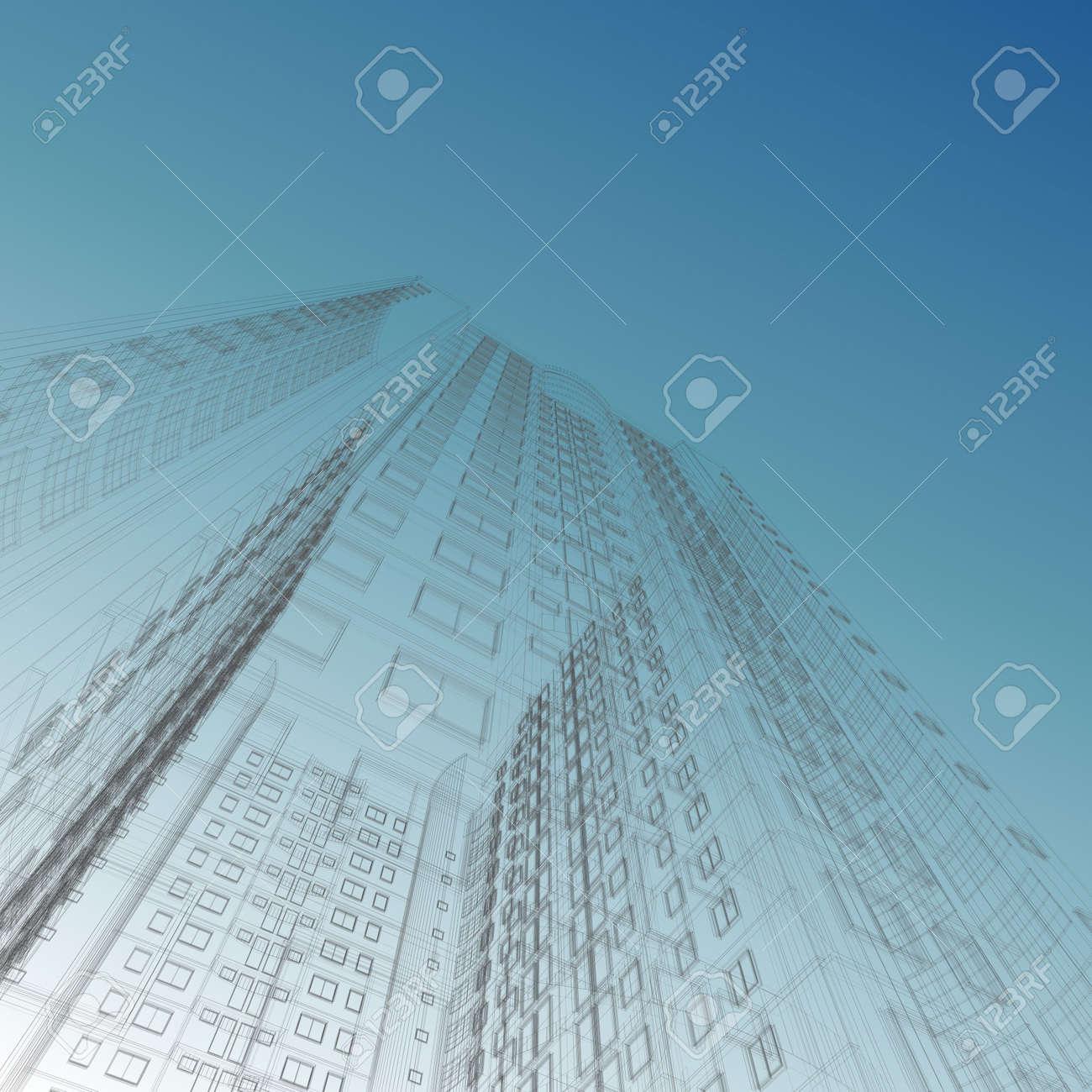 architecture blueprints skyscraper. Wonderful Blueprints Architecture Blueprint Of Construction Skyscraper On Sky Background Stock  Photo  5621792 To Blueprints Skyscraper S