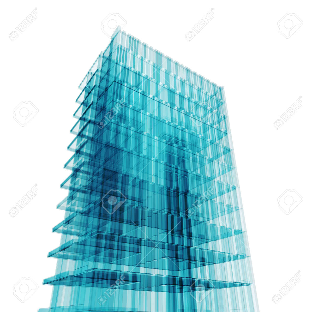 Office concept. My personal concept architectural project Stock Photo - 6508523