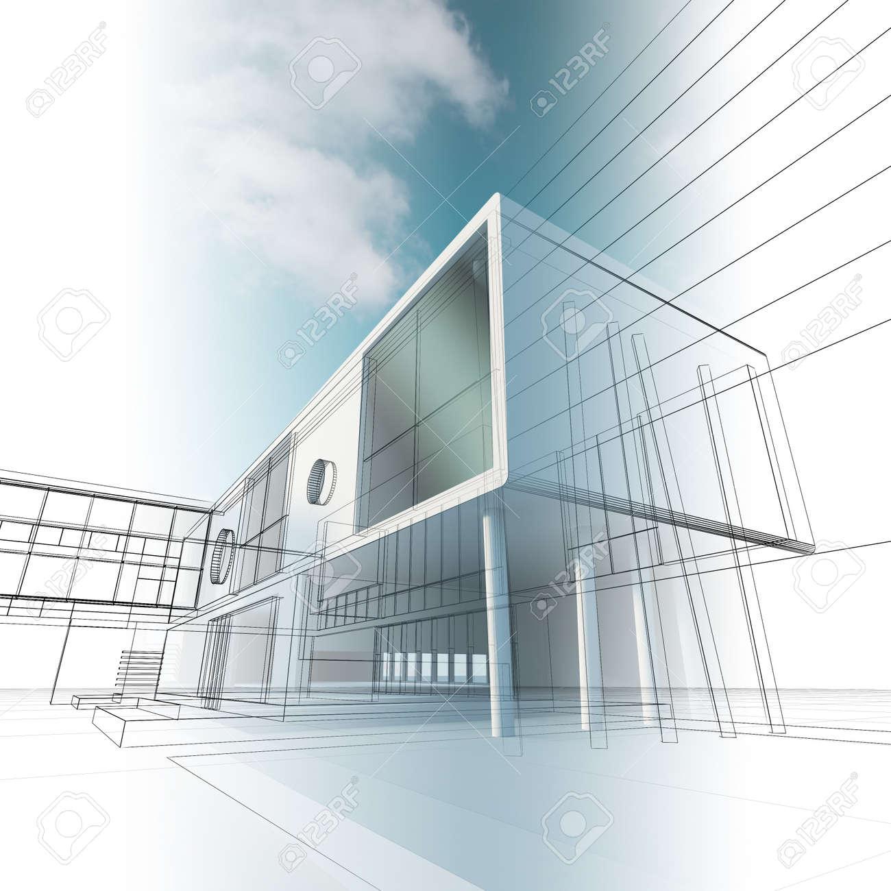 Construction architecture. Stock Photo - 8774763