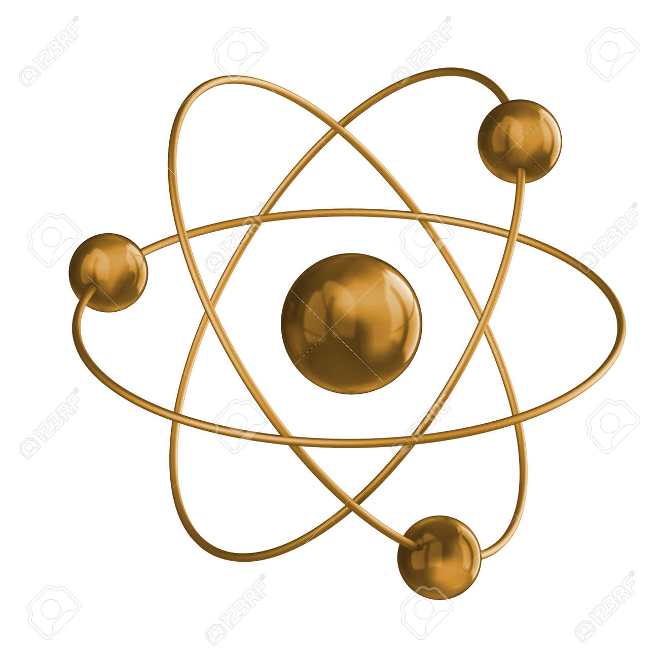 Gold science. White isolated 3d Stock Photo - 8988144