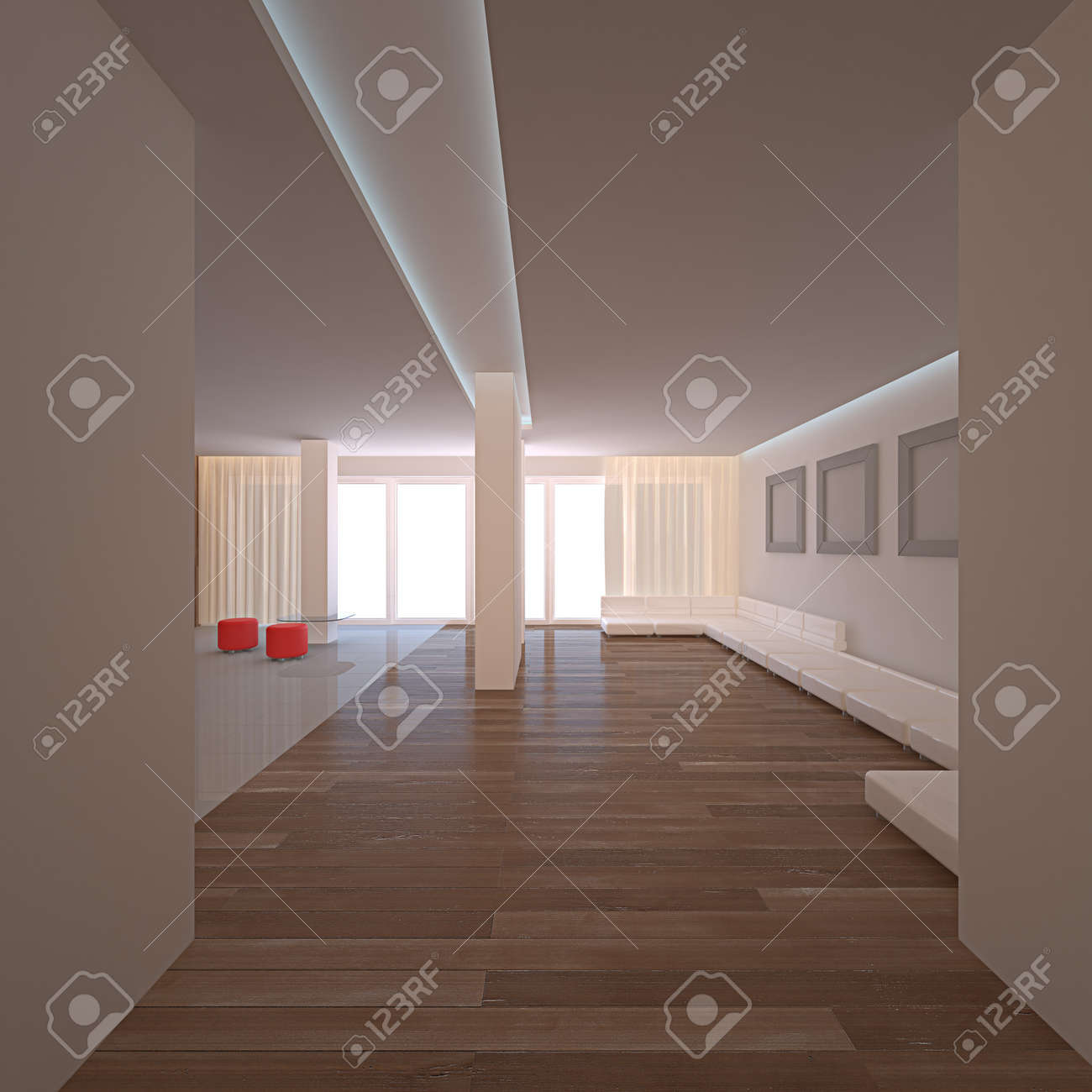 Simple room. No copyrights, my design project Stock Photo - 10318686