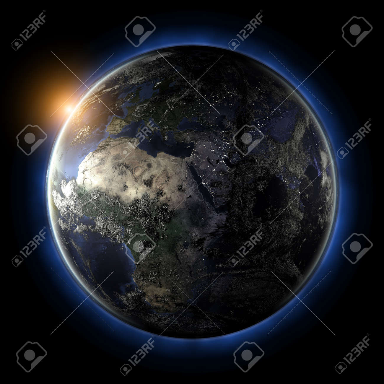 Globe Earth Map From Nasa Stock Photo Picture And Royalty Free