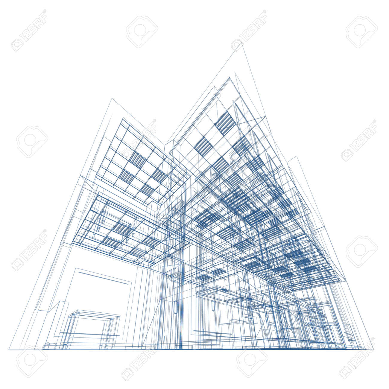 Blueprint on white conceptual architecture project stock photo blueprint on white conceptual architecture project stock photo 10529880 malvernweather Choice Image