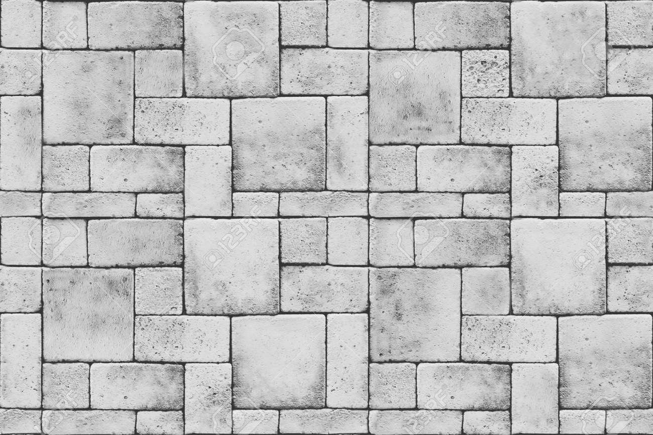 Seamless Grey Blocks Floor Texture Stock Photo