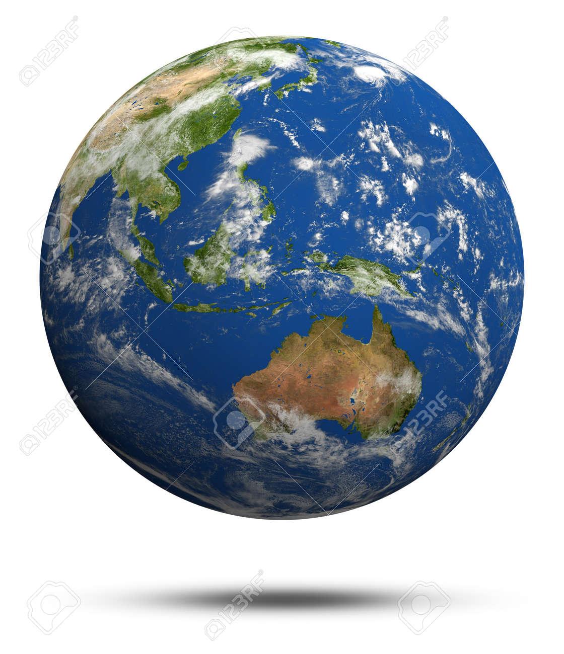 australia and oceania earth globe model maps courtesy of nasa stock photo 14916031