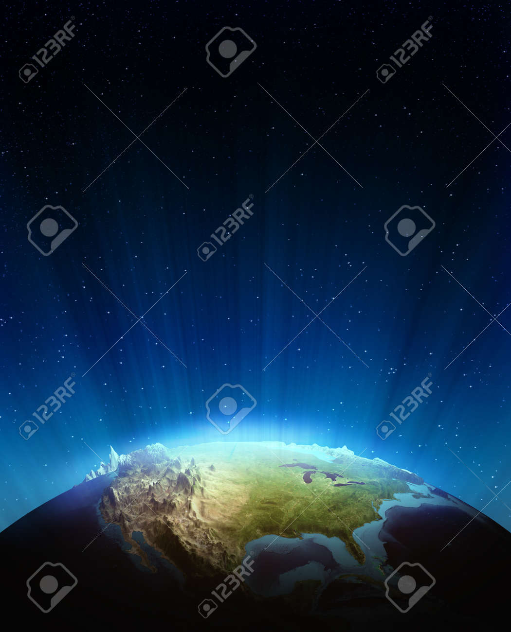 North america real relief Elements of this image furnished by NASA - 14916085