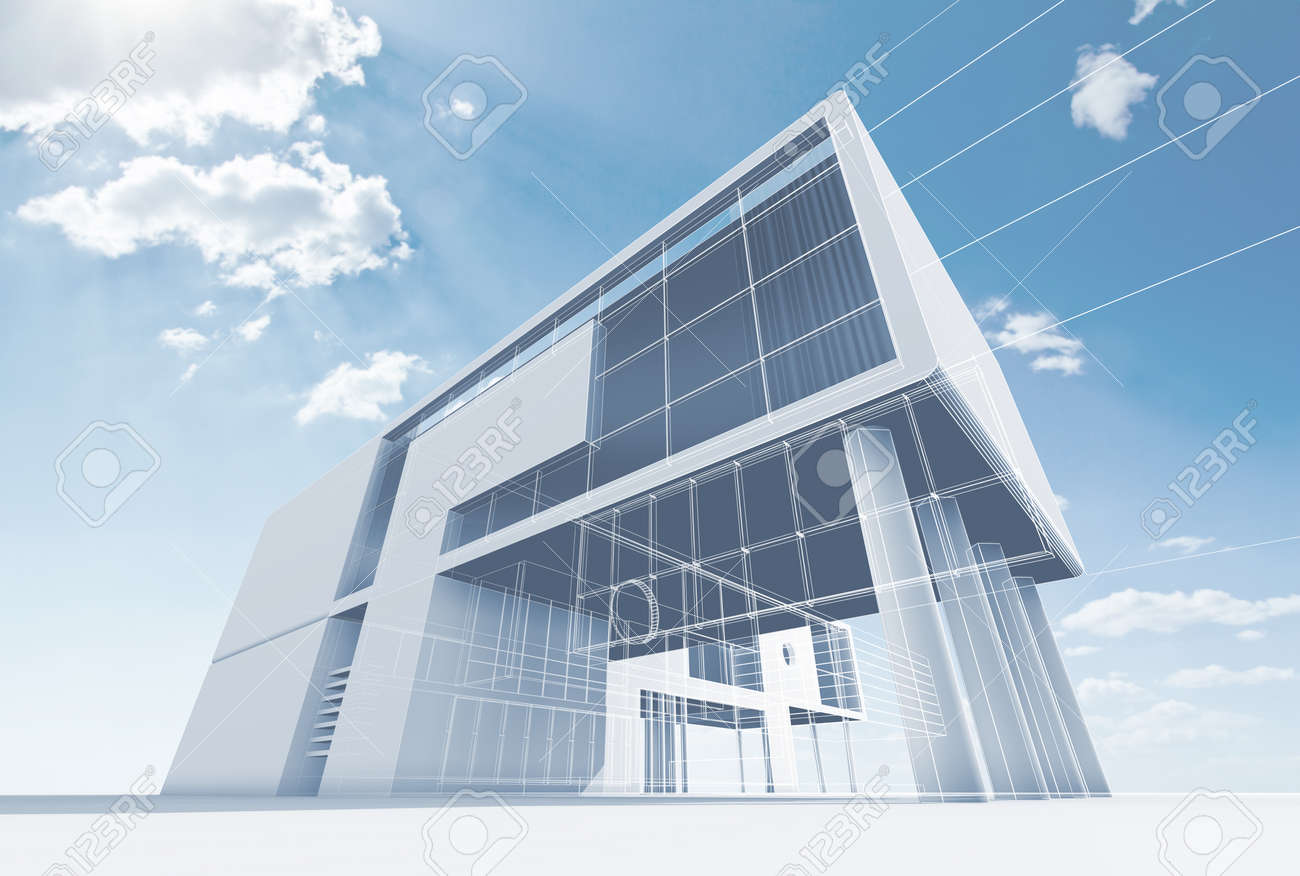 office architecture high quality d render stock photo picture office architecture high quality 3d render stock photo 15374933