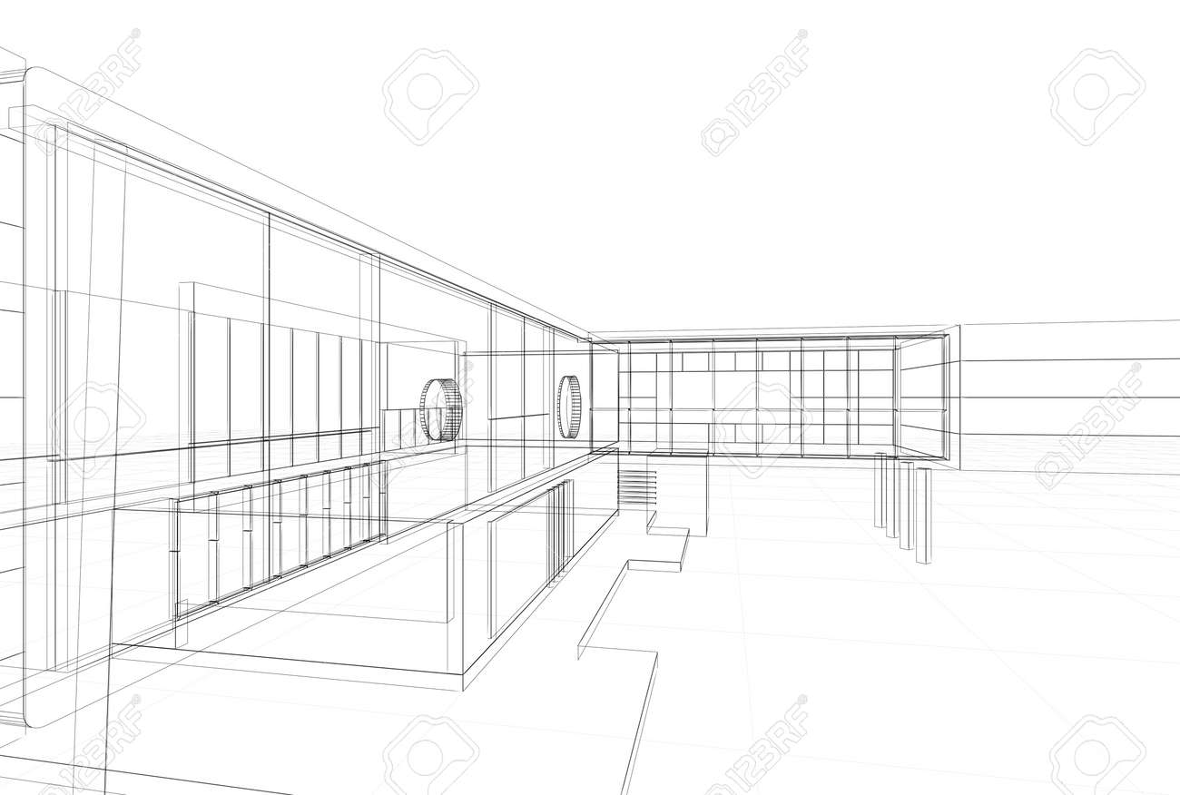 Architecture blueprint on white background stock photo picture and architecture blueprint on white background stock photo 15961101 malvernweather Image collections