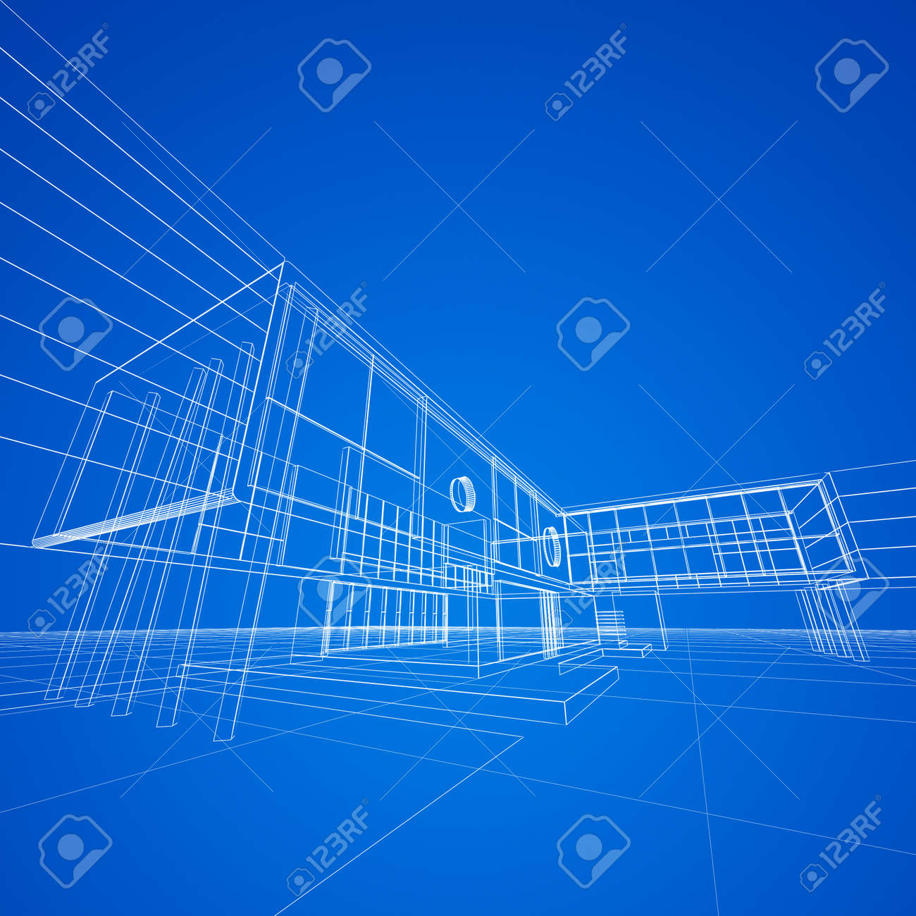 Blueprint on blue My design and 3d model Stock Photo 17512440  Blueprint On  Blue My. Blueprint Design