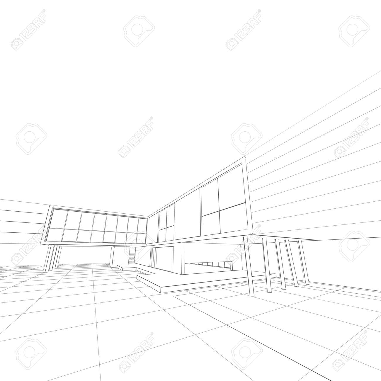 House blueprint white isolated building design and 3d model stock house blueprint white isolated building design and 3d model my own stock photo 18849645 malvernweather Images