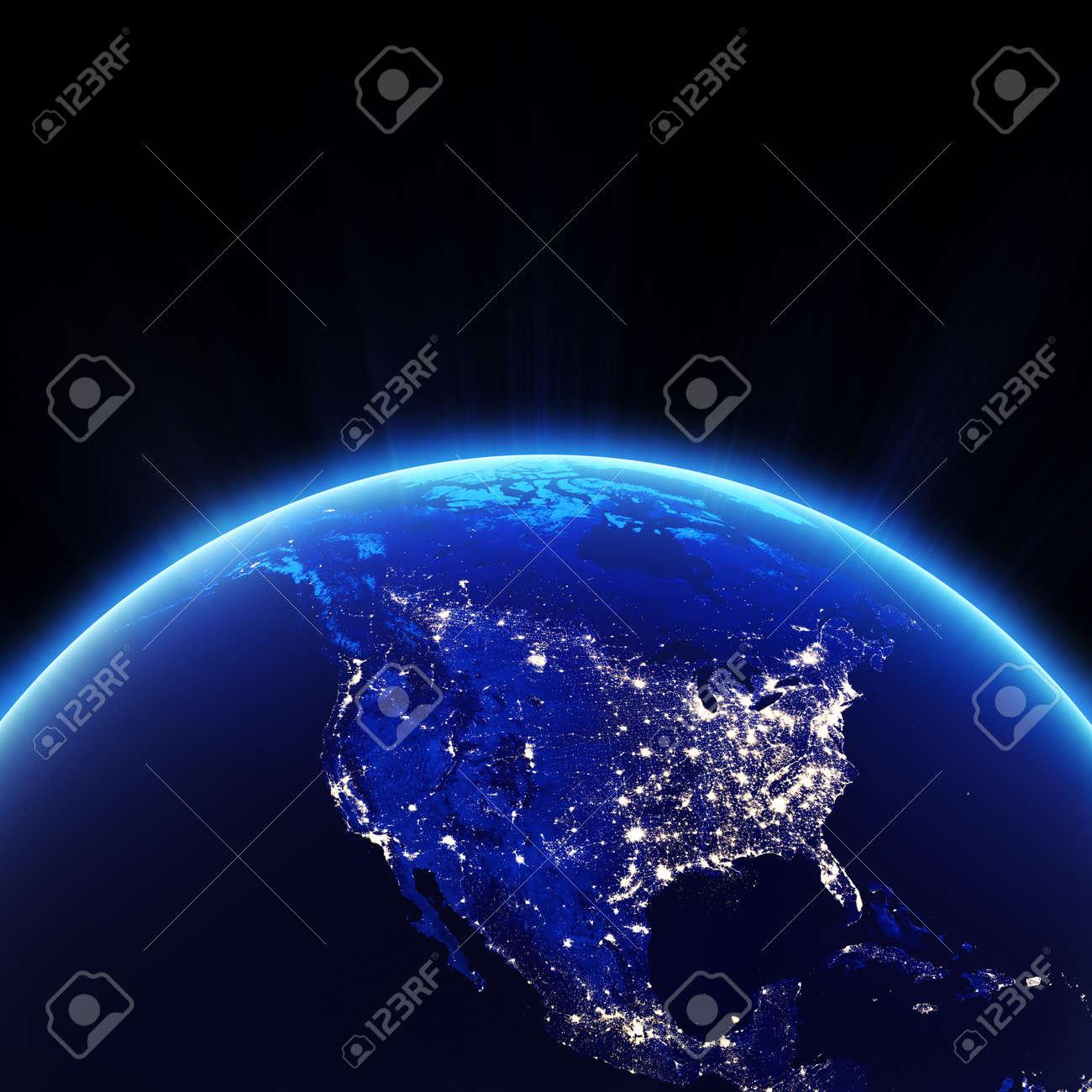 Us Map Night - Us map lights