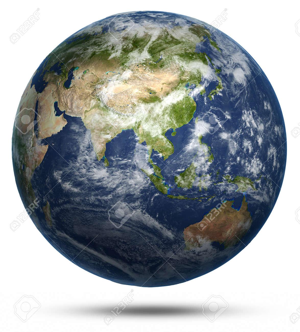 Asia And Australia World Map Earth Globe Model Maps Courtesy - Earth globe map